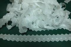 9.8メートル・白の綿レース・ハート+スカラップ(��01286)