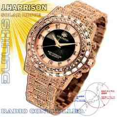 UK産PG shine美しすぎる電波ソーラージョンハリソン宝石腕時計