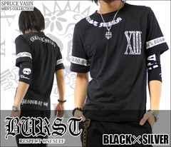 メール便送料無料【MAD BURST JAPAN】70562Tシャツ黒銀L