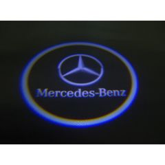 ベンツ W222セダン LEDロゴ カーテシランプ (黒)