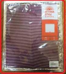 エアコン対策あったか毛糸パンツ保温吸湿発熱Mサイズ紫色