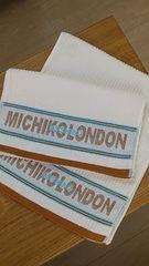 B品未使用*MICHIKO LONDON/ミチコロンドン*ブランド刺繍入りフェイスタオル2枚