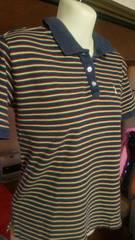イーストボーイ EASTBOY ラスタ色 ボーダー 半袖ポロシャツ 《15》