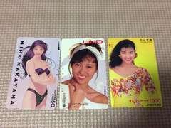 中山美穂 テレホンカード2枚とオレンジカード 未使用
