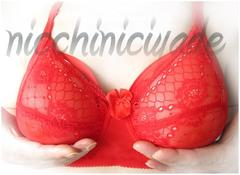 ★積極的に♪★人工乳房用ブラジャーC80レッド★シリコンバスト