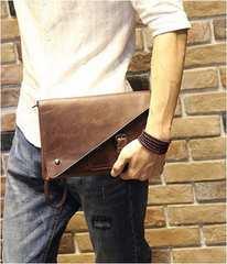 復古 メンズセカンドバッグ ハンドバッグ 携帯入れバッグ