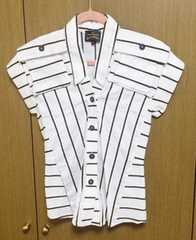 ヴィヴィアンストライプデザインシャツ 38サイズ