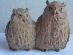 木彫りのふくろう&北山窯七福神&大国さんと布袋さんの10点セット
