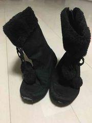 19cm/黒/ブーツ