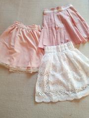 可愛いガーリースカート3点セット*゚プライムパターン ロディスポット pink フリル