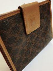 セリーヌ/CELINE マカダム柄革製二つ折り財布
