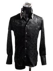 GILMAC ランダムアーガイルシャツ ホスト 黒 S