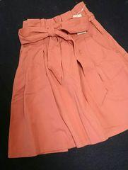 新品未使用タグ付☆ミスティウーマン♪可愛いオレンジスカート\4900