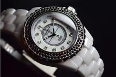 英国美しい宝石鑑定書ジョンハリソン天然ダイヤモンド12個腕時計