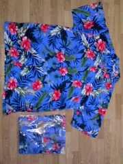ハイビスカスアロハシャツサイズ4Lタグ付き未使用未開封新品