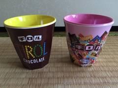 チロルチョコ メラミンカップ 2個セット 新品