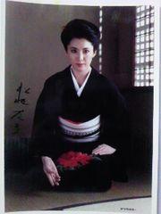 松坂慶子 自筆サイン入キャビネ判 生写真 1984年