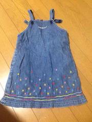 MIKIHOUSE  刺繍デニムワンピース