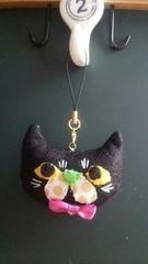 ★黒猫chanチャームストラップ★