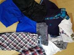 メンズ夏服♪福袋♪服箱♪ポロシャツ等♪Mサイズ7点セット♪送込