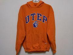 即決USA古着●ロゴデザインスウェットパーカー橙!ヴィンテージ・アメカジ