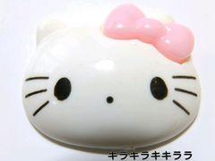 デコパーツピンクリボン★フェイス型*キティちゃん