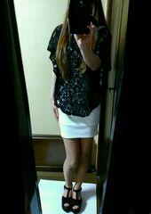 ムルーア 白 バンテージ タイトスカート