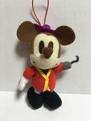 ミッキーマウスぬいぐるみマスコット フック船長ゴムひもストラップ