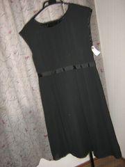 黒シンプルワンピ250g*B48-0113送料¥400