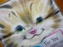 ブルーミング猫ちゃんハンカチ