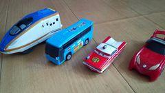 ハッピーセット、トミカ、カーズ消防車、新幹線、4個セット