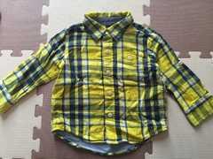 ★Gap★チェックシャツ★18〜24ヶ月★イエロー×ネイビー