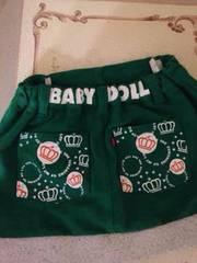 BABY DOLLの秋冬用スカート100cmクリスマス