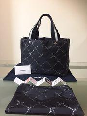 1円 ◆正規品◆ 美品 ◆ シャネル トラベルライン バッグ 黒