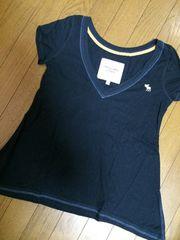 正規店購入!アバクロ Tシャツ ネイビー S