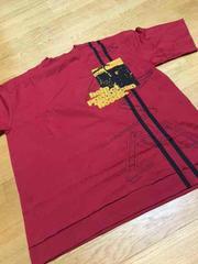ARMEデザインプリントハイクオリティTシャツサイズ2XL�Fワインレッド
