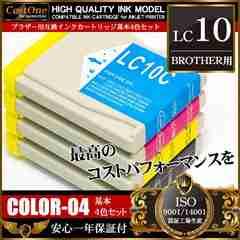 ���u���U�[ BROTHER LC10-4PK 4�F�p�b�N �݊��C���N