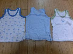 【新品】ランニングシャツ3枚組90�p恐竜柄