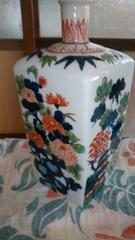 伊万里焼き面取り色絵花瓶壺
