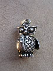 Silver925 純銀owl  フクロウ 5.6g  movable  n191