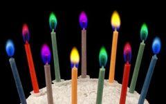 ケーキ ろうそく 5色 2 セット 誕生日 パーティー キ2