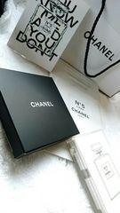 CHANEL シャネル VIP顧客ノベルティミラー両面タイプ No.5 ローサンプル ショップ袋
