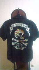 Black FLAME ブラック フレイム 半袖シャツ 15 1/2  M