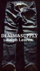 【DENIM&SUPPLY】ラルフローレン Vintage Destroy ストレートジーンズ 34/Dark