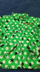 ベビードール BABYDOLL 長袖シャツ 110 緑系ドット