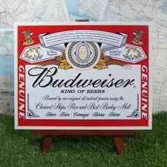 ★新品★【ブリキ看板】Budweiser/バドワイザー 缶ラベル