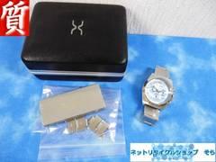 質屋☆本物ポールスミス 腕時計 メンズ ライトブルー 美品