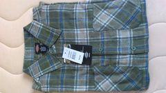 激安86%オフディッキーズ、長袖シャツ、ネルシャツ(新品タグ、カーキ、M)