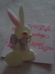 Angelic Pretty Happy Garden ハッピーガーデン リング ホワイト 白ウサギ新品