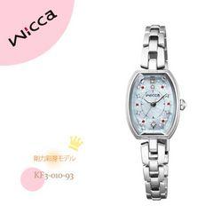 新品★CITIZENシチズンwiccaウィッカ KF3-010-93 剛力彩芽モデル